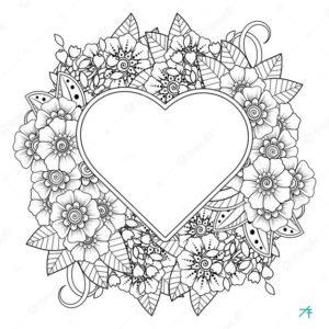 easy heart mandala